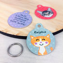 Cat ID Tag Personalised