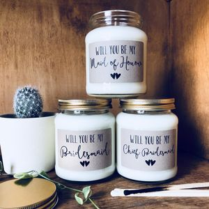Be My Bridesmaid / Maid Of Honour Proposal Candle - be my bridesmaid?