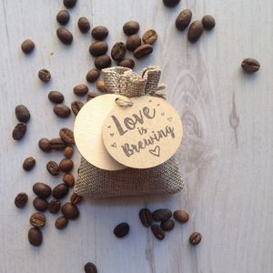 Personalised Coffee Wedding Favour Sample - edible favours