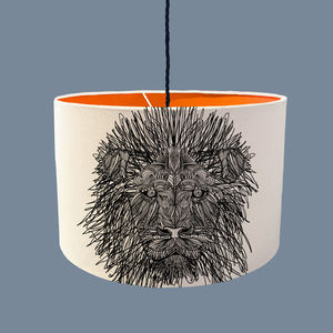 Lion Lampshade With A Range Of Colour Linings - children's lighting