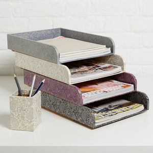 Recycled Paisley Stacking Storage Tray
