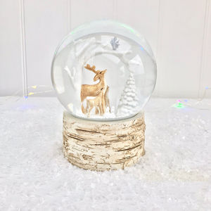 Christmas Deer Snow Globe