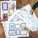 Colour In And Draw Frame Placemats Kit + 10 Pens