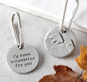'I'd Move Mountains For You' Keyring - love tokens