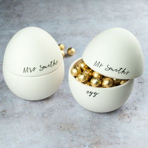 Easter gifts for adults notonthehighstreet his and hers couple personalised easter egg easter gifts for adults negle Choice Image