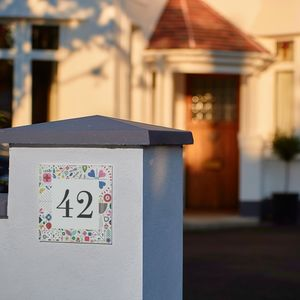 Personalised New Home Folk Art House Number Gift