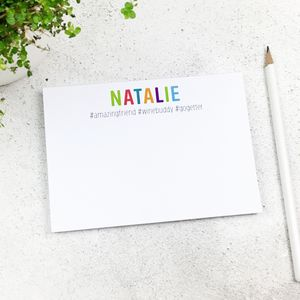 Personalised #Hashtag Notepad A6