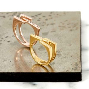 Gold Ring With Topaz Neringa - rings