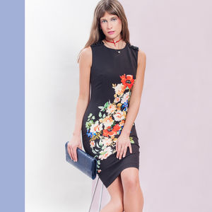 India Floral Print Dress - women's fashion sale