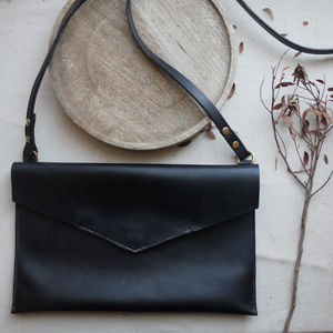 VIDA Leather Statement Clutch - Chance Happening Leather by VIDA OOiscW
