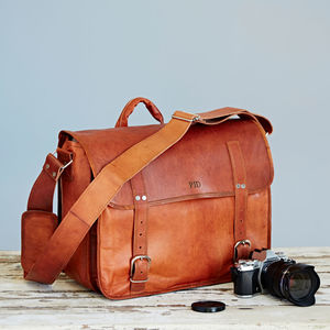 Personalised Leather Camera Bag - tech accessories for him