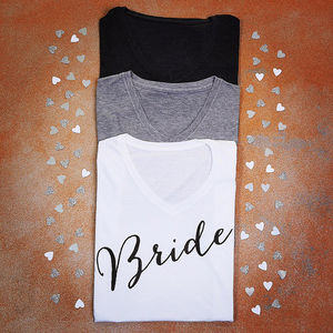 Personalised Bride T Shirt - tops & t-shirts