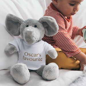 Personalised Ellie Elephant Soft Toy - gender neutral
