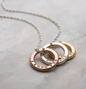 Personalised Precious Stone Necklace - valentine's gifts for her