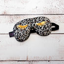 Leopard Print Eye Lash Sleep Mask With Lavender