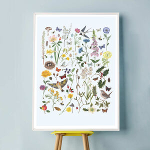 British Wildlife And Florals Through The Seasons Print