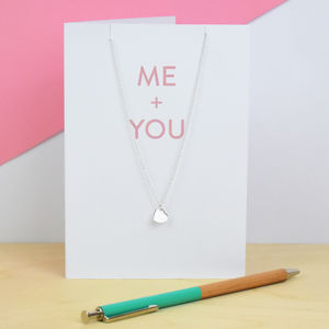 Me And You Greeting Card And Necklace Set - necklaces & pendants