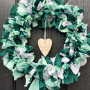 Lockdown Spring Reusable Fabric Wreath Green