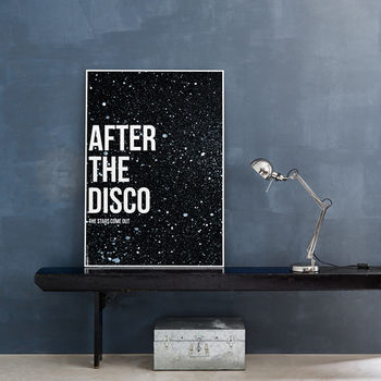 Framed Disco Print