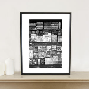 Book Stand, Paris, France, Signed Art Print - architecture & buildings