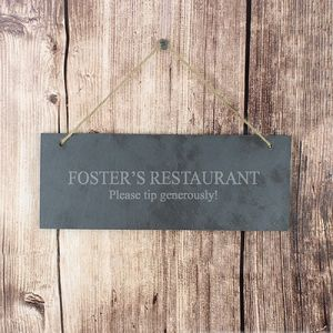 Personalised Engraved Slate Plaque - decorative accessories