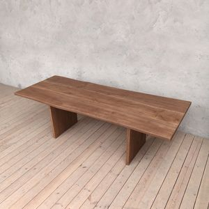 Millenium Oak Dining Table With Slab Legs