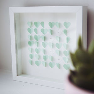 D.I.Y Personalised Hearts Picture Kit - best valentine's gifts for her