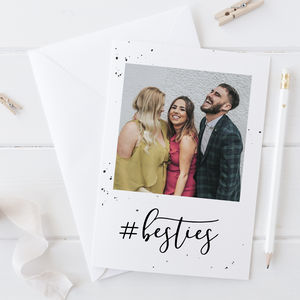 'Besties' Personalised Photo Card