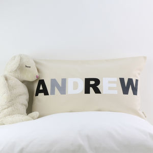 Monochrome Kids Cushion With Name