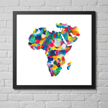 'Africa And The Middle East Map' Fine Art Giclée Print