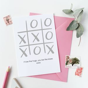 Xoxo Noughts And Crosses Valentine's Day Card