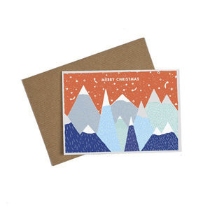 Alpine Christmas Mountain Card - cards