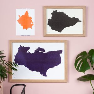 Risograph UK County Silhouette Map Print