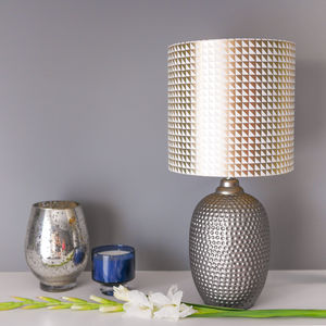 Geometric Lampshade In White And Gold