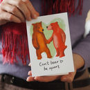 Bear Couple Anniversary Or Valentine Card
