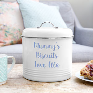 Personalised Biscuit Barrel - storage & organisers