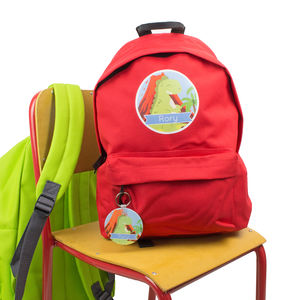 Personalised Dinosaur Children's Backpack School Bag
