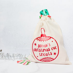 Personalised Christmas Eve Box Bags
