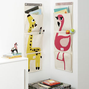 Animal Canvas Wall Organiser - crates