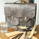 Leather Satchel Backpack Handmade In London