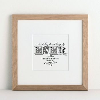 Forever in Love Personalised Art print from Letterfest
