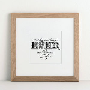 Forever In Love Personalised Art print - wedding gifts sale