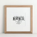 Forever In Love Personalised Art print