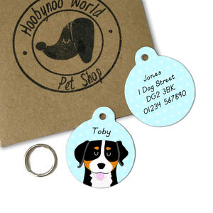 Greater Swiss Mountain Dog Personalised Pet Tag - pet tags & charms