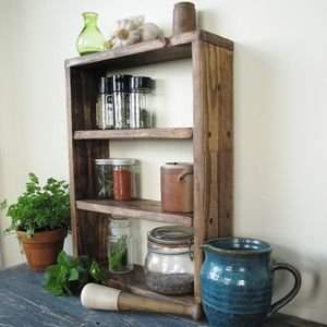 Country Kitchen Spice Rack - shelves