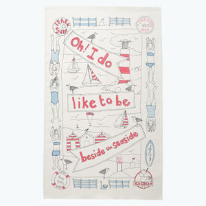 Beside The Seaside Tea Towel - kitchen