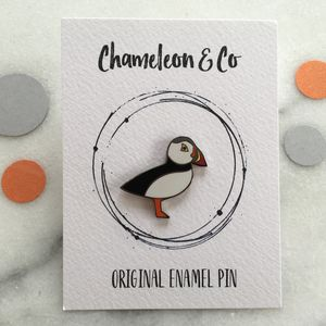 Puffin Enamel Pin - pins & brooches