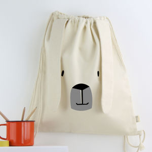 Childrens Gym Bag With Ears - the 'no pink or blue' children's collection