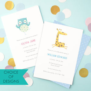 Personalised Naming Day Invitations - childrens party invitations