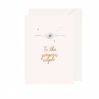 'To The Gorgeous Couple' Card